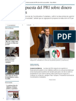 Critican Propuesta Del PRI Sobre Dinero Para Partidos - Grupo Milenio
