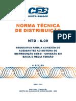 NTD 6.09 - CEB Requisitos Para Conexao de Acessantes Ao Sistema Ceb-d 4 Ed