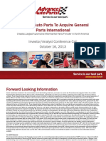AdvanceAutoPartsConference Call Presentation101613