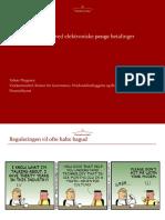 Tobias Thygesen_Finanstilsynet_regulatoriske Overvejelser Ved Elektroniske Betalinger