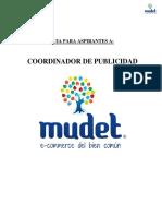 Aspirantes a Coordinadores de Publicidad MUDET
