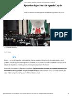 De Nuevo, Diputados Dejan Fuera de Agenda Ley de Seguridad _ EL DEBATE