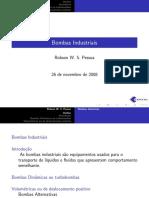 Apostila - Bombas Industriais - (Robson W. S. Pessoa) - (Cefet-BA).pdf