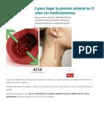 Método Natural Para Bajar La Presión Arterial en 5 Minutos Sin Medicamentos - Mejor Con Salud