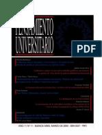 PENSAMIENTO UNIVERSITARIO 11