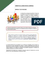 Establecimiento de La Direccion en La Empresa