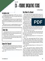 d20 Ronin Arts Modern Six-Pack Psionic Operative Items