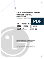 Lg j10hd Owner s Manual