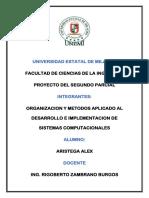 Proyecto Organizacion Metodos 2 Parcial