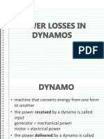 Power Losses in Dynamos