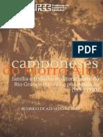 20160129livro Os Camponeses Do Morro Alto