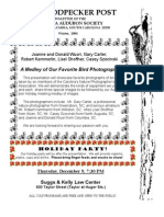 Winter 2004 Woodpecker Post Newsletter, Columbia Audubon Society