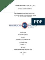 Proyecto de Investigación Modelo 1