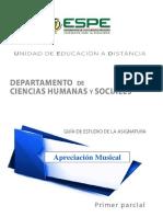 Actividad Entregable 1 Apreciación Musical