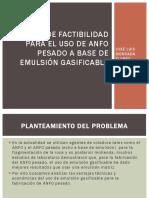 Análisis de Factibilidad Para El Uso de Anfo