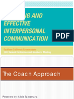 Coaching and Effective Interpersonal Communication PPT
