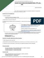 Control Del Sensor de Posicion Mariposa (Tp) (Zj, z6)