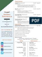 Sierra Theobald – Resume