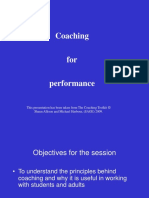 Coaching for Performance (PowerPoint Presentation)