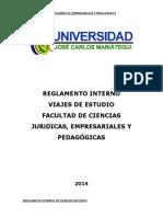 Reglamento Interno de Viajes de Estudio Fcjep-ujcm