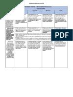 Rubrica de Evaluación Producción de Textos 19 de Octubre