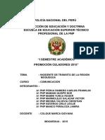 Monografia Estadisticas de Incidentes de Transito en La Region Moquegua - Pnp Perca Romero Carlos Franklin
