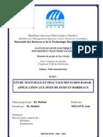 Etude Texturale Et Fractale Des Echos Radar