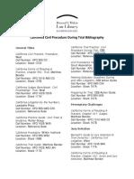CA Civil Procedure During Trial Biblio