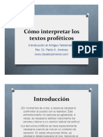 Interpretar Los Textos Profeticos