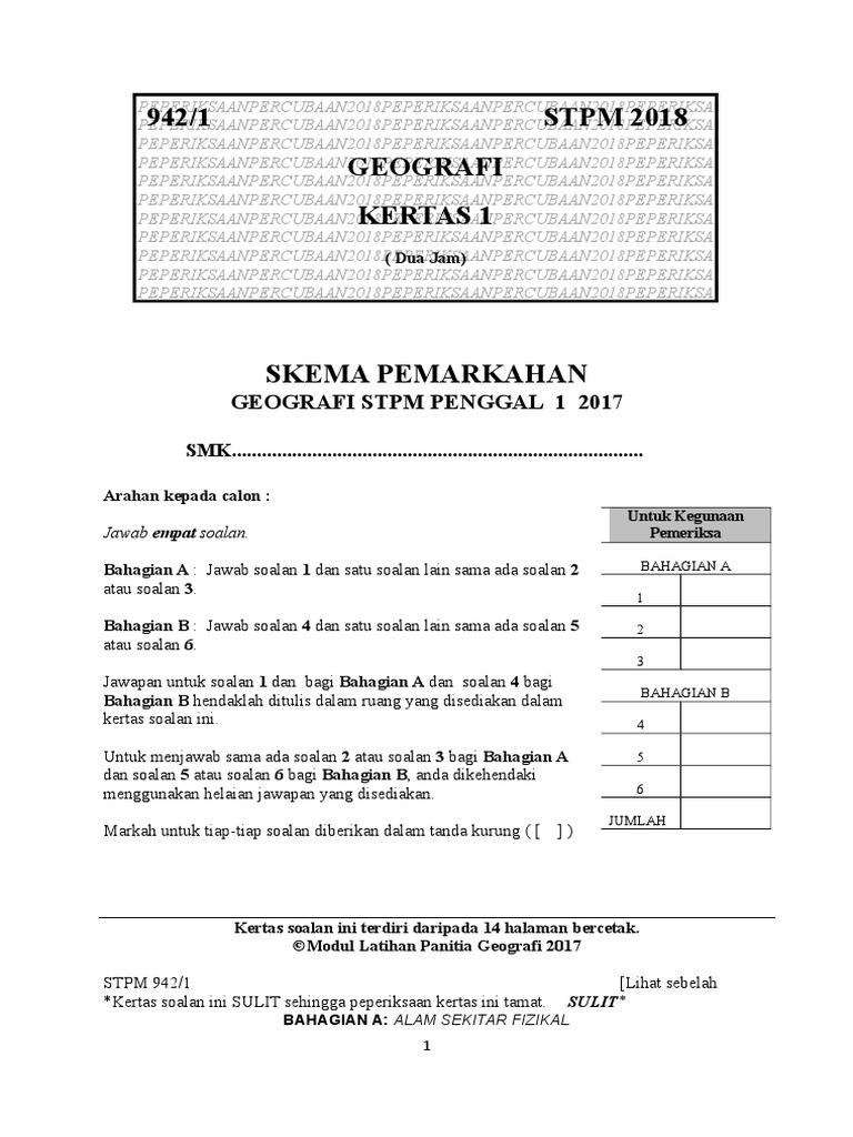 Skema P1kedah 2018