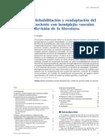 Rehabilitacion y Readaptcion Del Paciente Con Hemiplejia Vascular Revision de La Literatura