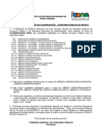 Edital Classificação - PG CP 003-2017