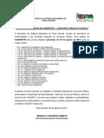 Edital Gabaritos - CP 003-2017