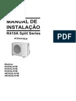 RXS20-35L3 ARXS25-35L3 3PPT381941-1 Installation Manuals Portuguese