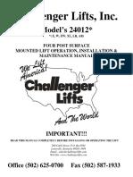 Challenger 24012 IOM