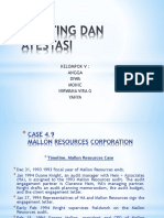 Auditing Dan Atestasi Case 4.9 Mallon Reources Corp.