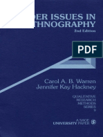 (Qualitative Research Methods) Carol a. B. Warren, Jennifer Kay Hackney-Gender Issues in Ethnography-SAGE Publications, Inc (2000)