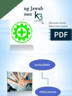 Tanggung Jawab Manajement k3 Ppt