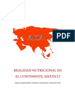 Informe Realidad Nutricional en El Continente Asiatico