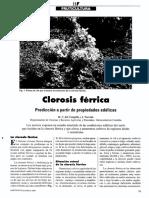 Clorosis ferrica