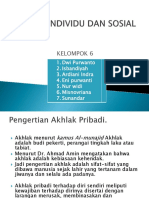 2.Akhlak Individu Dan Sosial