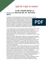 La Curacion Del Cancer - Mathia