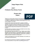 Ensayo Tabare Español