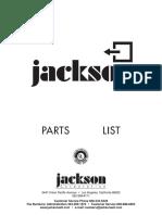 Jackson Parts List