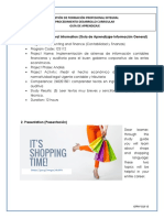 Lesson template Shopping