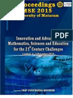 Proceedings of ICMSE 2015 University of Mataram v2.0