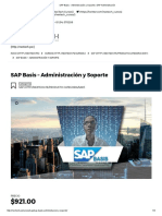 11111 SAP Basis - Administración y Soporte