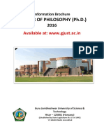 PhD. Information Brochure 2016