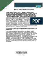 Evidencia 1 AA14 Foro - Guía 14 Importancia Del Plan Maestro