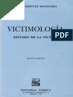 Victimología Rodriguez Manzanera